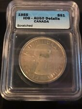 1955 Canadian $1 Coin AU50 (C303)