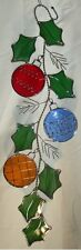 Stain Glass Christmas Ornaments Scroll