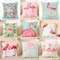Fashion Flamingo Home Decor Pillowcase Throws Pillow Case Waist Cushion Covers