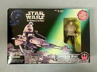 Star Wars Power Of The Force SPEEDER BIKE w/ Luke in Skywalker Endor Gear. NEW