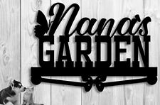 Custom Metal Garden Sign - Nana Grandma Name Butterflies Gift Mothers Day  Metal