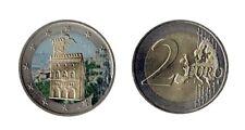 """2 euro pièce commémorative SAN MARINO coloriert, 2011 - """"WEHRTURM"""""""