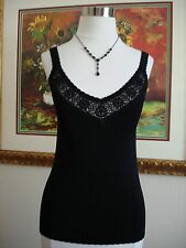 Cyrus Women's Solid Black Sleeveless Knit Top Size S NEVER WORN!
