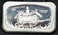 Adriatic # 31 1859 Fire Wagon Art Bar 1 oz.999 Fine Silver by Madison Mint