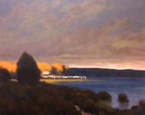 Tonalist Twilight Tonalism Impressionist Realism Landscape Art Oil Painting