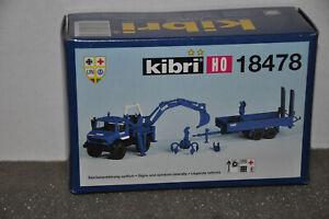 Kibri: 18478  Unimog mit Kran und Anhänger, THW  Technisches Hilfswerk