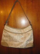 Aigner Beige Polyester and Cotton Shoulder bag Man-made Trim Size 8 X 12 NWOT