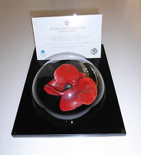 More details for table top tower of london poppy display case - unique dome design
