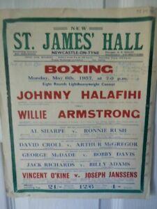 JOHNNY  HALAFIHI   V  WILLIE  ARMSTRONG   -  BOXING  POSTER   - 1957