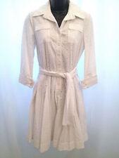 SZ 6 Diane von Furstenberg DVF White Rosina Wrap Button Down Collar Dress $425