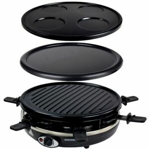 4in1 Raclette Crepemaker Grill Pancake Crepe Maker Wechselplatten Grill Syntrox