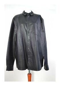 ASOS Lederhemd schwarz Größe XL NEU