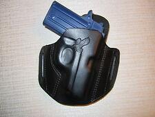 SIG P238, FORMED LEATHER PANCAKE HOLSTER, OWB BELT HOLSTER, RIGHT HAND