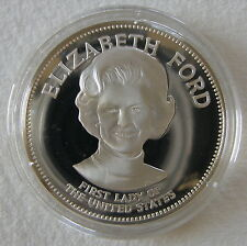First Lady Elizabeth Ford Franklin Mint First Ladies Of The White House Sterling