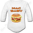 Body Bébé Hamburger Mac Baby