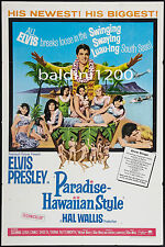 ELVIS PRESLEY - PARADISE, HAWAIIAN STYLE - QUALITY VINTAGE MOVIE/MUSIC POSTER