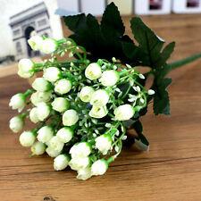 Beauty 36 Buds Artificial Silk Small Rose Flower Wedding Home Garden Decor
