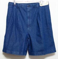 New+Tags Adventure Bound Clipper Men's Denim Blue Cotton Pleated Shorts - Sz 34