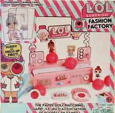 LOL SURPRISE Fashion Factory The Paper Doll Matching Game