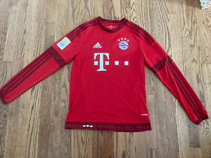 Bayern Long Sleeves Home Soccer Jersey #9 LEWANDOWSKI Size XL boy 15-16