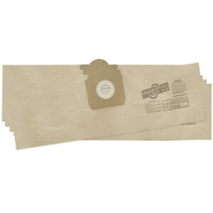 5 x VACUUM CLEANER DUST BAGS FITS CLARKE & DRAPER WDV 20L WET & DRY HOOVER A9376