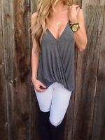 Fashion Sleeveless Loose Summer Sexy Women Casual Tank Vest Tops Blouse T-Shirt