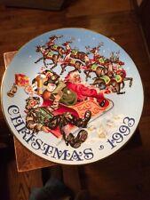 """Santa'S Stowaway"" Emmett Kelly Jr. Christmas Plate 1993 Flambro 8 1/2"" Limited"