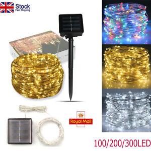 100LED Solar Fairy String Lights Waterproof Copper Wire XMAS Outdoor Garden Lamp