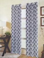 NAVY BLUE Double Swag Vinyl Bathroom Window Curtains w//Tie Backs DEHP//BPA FREE