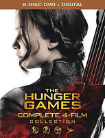 The Hunger Games: Complete 4 Film Collection [DVD + Digital] New DVD! Ships Fast