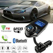 Car Bluetooth Kit MP3 Player Handsfree Wireless FM Transmitter USB LCD Modulator