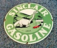 VINTAGE SINCLAIR GASOLINE PORCELAIN HC SERVICE DINO STATION PUMP PLATE RACK SIGN