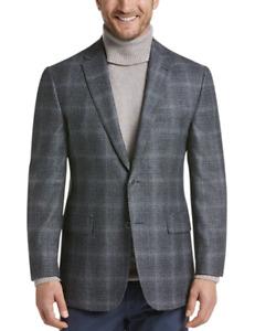 Brand New Joseph Abboud Sportcoat/Suit Jacket Grey Blue Plaid100% Wool 44R