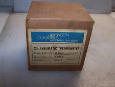 "NEW JOHNSON CONTROLS 2-1/2"" PNEUMATIC THERMOMETER T-5502-2-  0/100F"