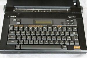 Vintage 1989 Canon Typestar 3 - Portable Electronic Personal Typewriter