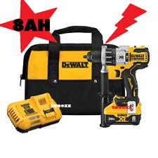 Dewalt 20v Xr Brushles Hammer Drill Driver Kit Dcd998w1 Power Detect 8ah Battery