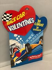 """Peaceable Kingdom """"Race Car"""" Valentines '2012' - 30 Cards - 30 Stickers"""