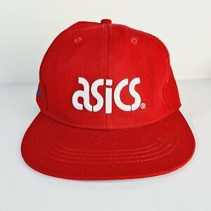 ASICS Red Hat Cap Size Medium