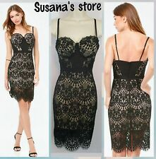 New  bebe CLARISSA LACE BUSTIER Dress SIZE M Very attractive and sexy $200