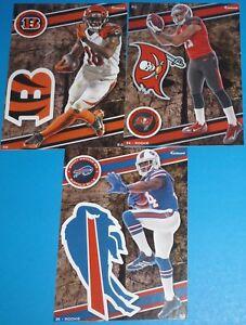 2014 NFL FATHEAD TRADEABLES 3 Mike Evans (Rookie) A.J. Green Sammy Watkins RC