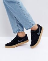 Nike SB Check Solar Trainers In Black Suede With Gum Sole. Size 7.5 UK. EU 42