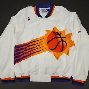 90s Champion Phoenix Suns NBA Warm Up Windbreaker Jacket Men's size XL VINTAGE