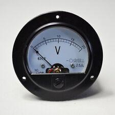 62C2 Meter DC 0~20V-New Round Analog Volt Panel Meter Top