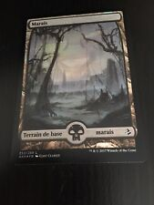 MTG MAGIC AMONKHET FULL ART SWAMP (FRENCH MARAIS) NM FOIL