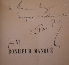 Georges de PORTO-RICHE Bonheur Manqué Ed.O. Dédicacée Relié 1/2 Maroquin 1889