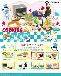 ORCARA Miniatures Cooking with Master kitchen Food Making re-ment Full set