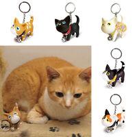 Cute Cat Kitten Keychain Keyring  Key Chain Rings For Women Handbag Decorative