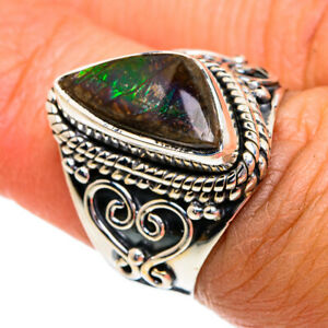 Ammolite 925 Sterling Silver Ring Size 6.5 Ana Co Jewelry R79237F