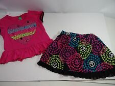 Dolly & Me Cute Top and Skirt Colorful Girls Size 7