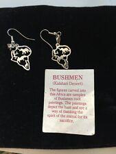 Bushman kalahari earrings pierced. Rare. New.